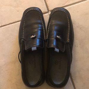 Coleus Haan black leather mules